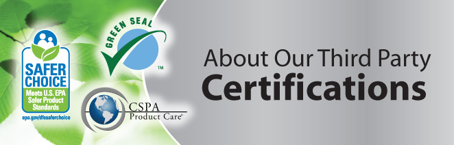 About Our Third Party Certifications