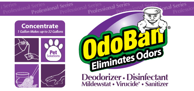 OdoBan Lavender Concentrate Eliminates Odors. Deodorizer, Disinfectant, Mildewstat, Virucide, Sanitizer