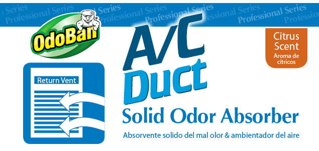 ac duct solid odor absorber