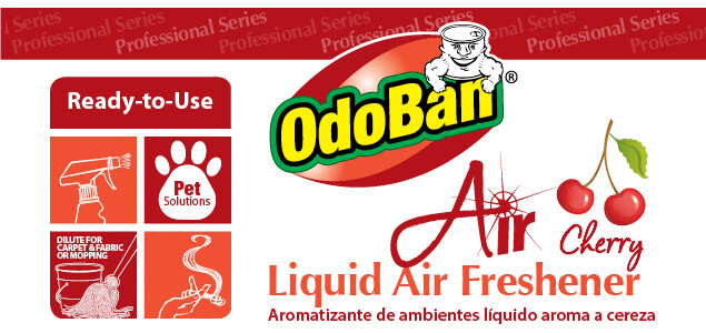 OdoBan Air Cherry - Liquid Air Freshener